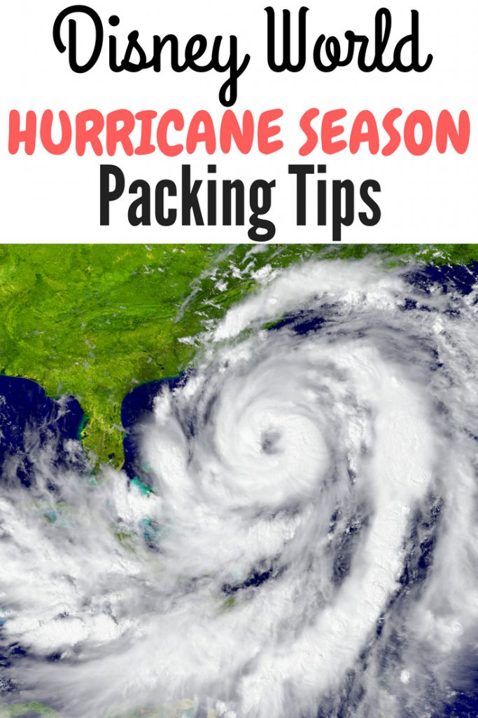 Are you traveling to Disney World during hurricane season (June 1st-Nov.30th)? It never hurts to be prepared and I've got all the packing tips you need! Disney World hurricane packing tips. #DisneyWorld #DisneyWorldpackingtips #DisneyWorldhurricane #Disneyhurricane #Floridahurricane