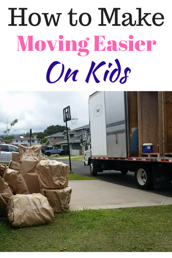 How to make moving easier on kids. Tips from a military wife. #moving #tipsformovingwithkids #movingwithkids #pcsing #militarypcsing