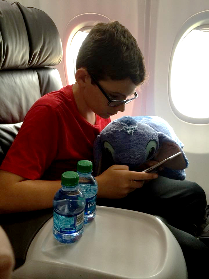 Settle in for a long flight with a plush.
