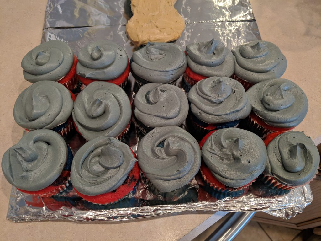 How to frost Thor cupcakes