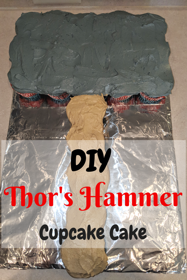 Easy DIY Thor cupcakes for Avengers party. #InfinityWar #Thor #Avengers #Disney #Marvel #birthday #cupcakes