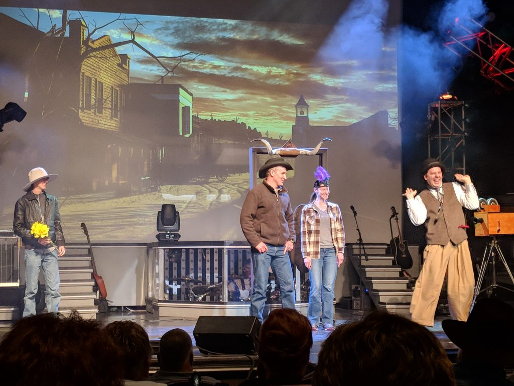 Matt Gumm brings the laughter to the Clay Cooper Country Express.