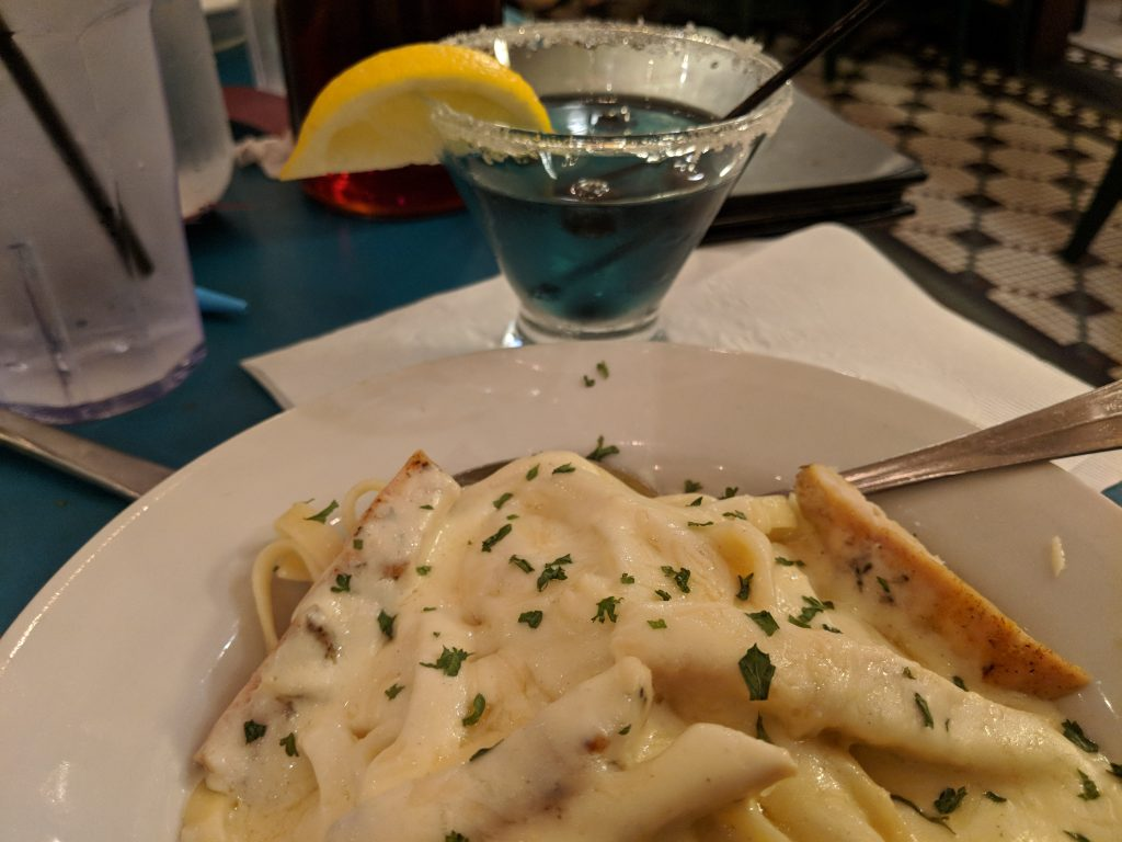 Florentina's makes a killer Chicken Fettucini Alfredo.