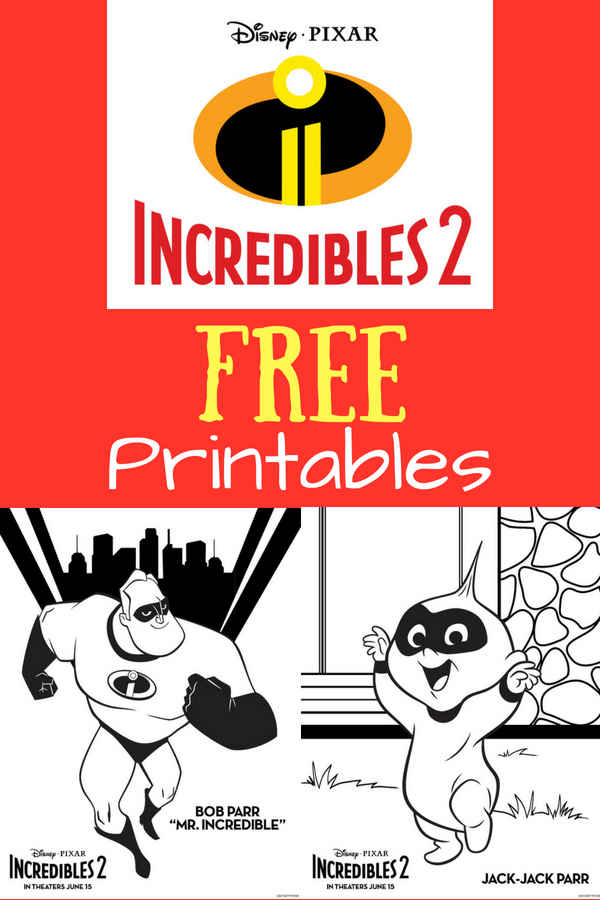 Incredibles 2 hits theaters June 15, 2018! Celebrate early with these FREE printables including coloring sheets, recipes and more. #Incredibles2 #Disney #Freeprintables #