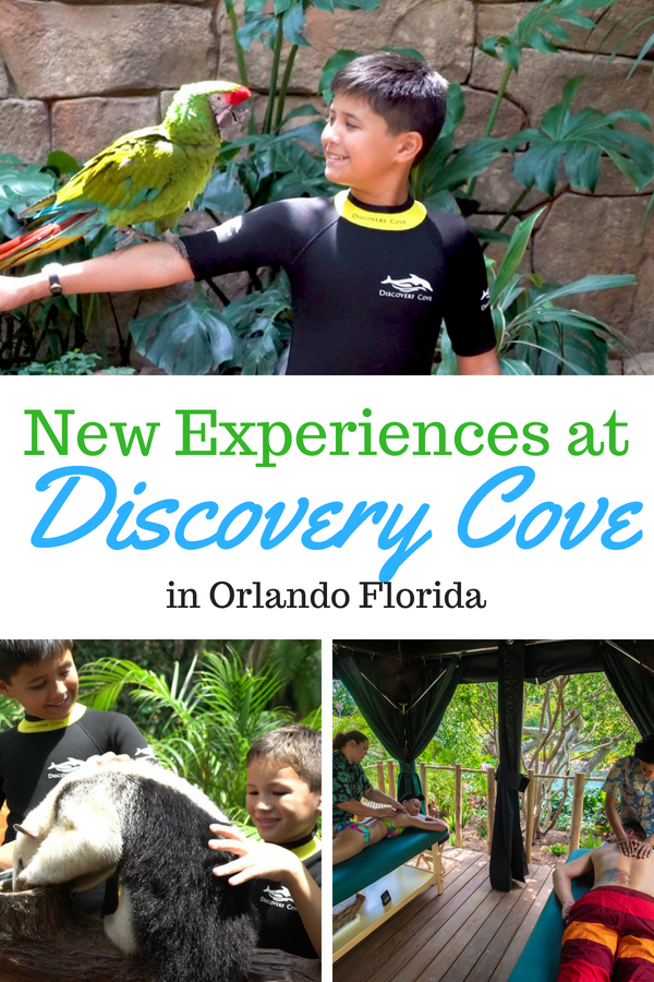 The all-inclusive day resort is kicking summer off with two new experiences! Guests of Discovery Cove can now book relaxation massages and the Animal Trek tour. #DiscoveryCove #SeaWorld #Orlando #travelwithkids