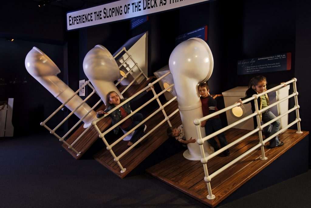 The Titanic Museum in Branson has a great interactive area for kids.