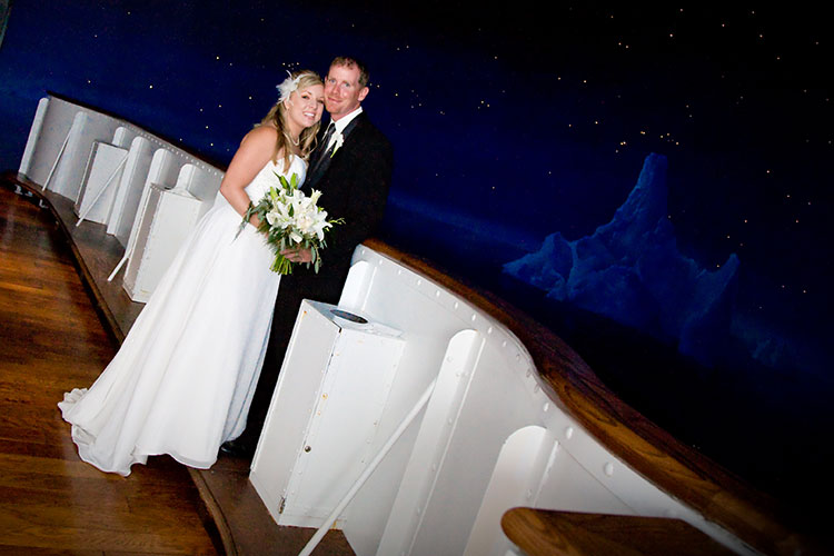 Celebrate your special day with the unique background of the Titanic Branson.