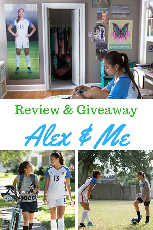 An inspiring tale about a young girl learning to believe in herself while getting advice from her hero, Alex Morgan. Alex & Me movie review and giveaway. Enter for a chance to win your own copy of Alex & Me on blu-ray. #AlexandMe #AlexMorgan #familymovie #moviereview