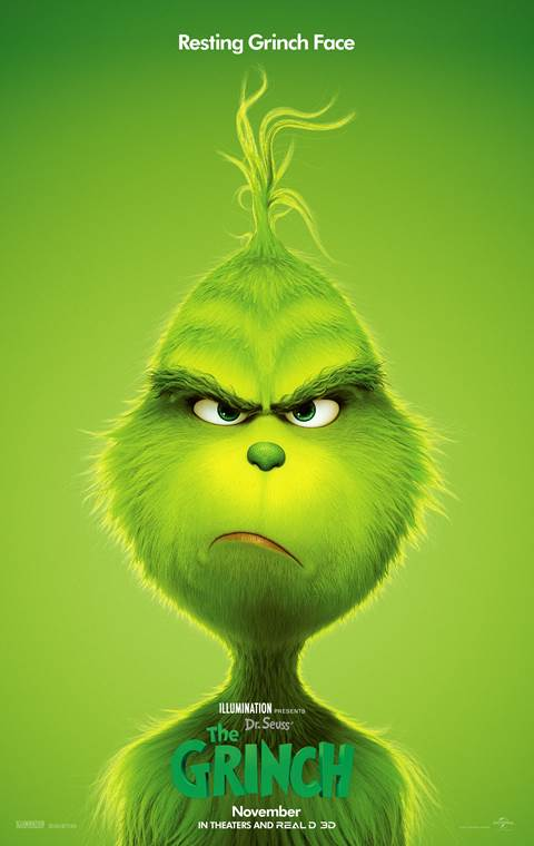 The Grinch in theaters November 9th! Just in time to crash your holidays. #TheGrinch #RestingGrinchFace #RGF