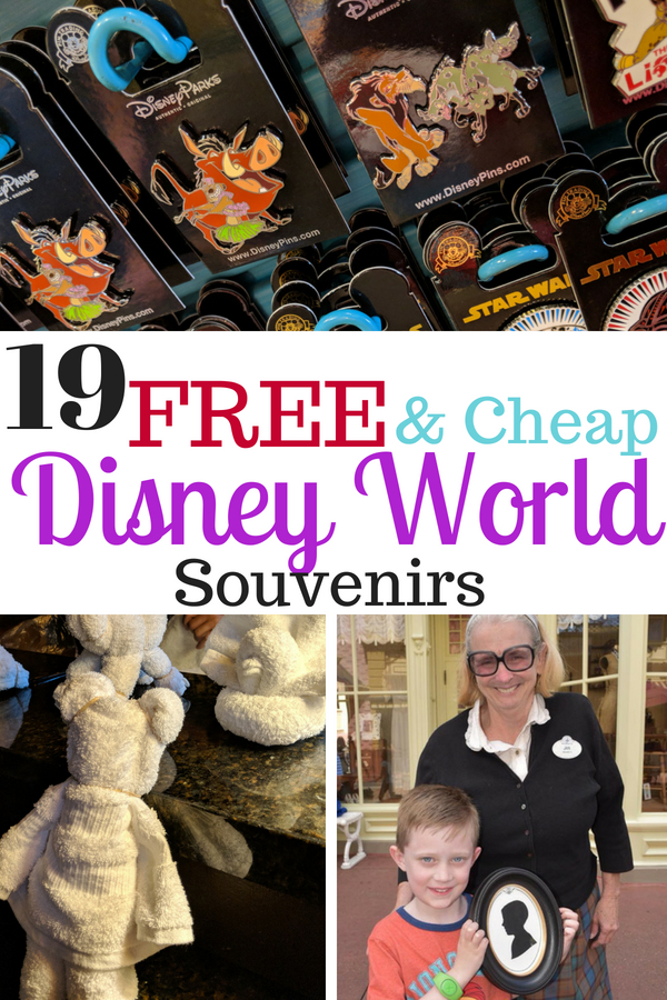 Let's be real Disney World isn't cheap. But there are ways to save! Here are 19 souvenirs that won't bust the budget including a long list of FREE ones! #DisneyWorld #FreeDisney #DisneyTrip #DisneyWorldVacation