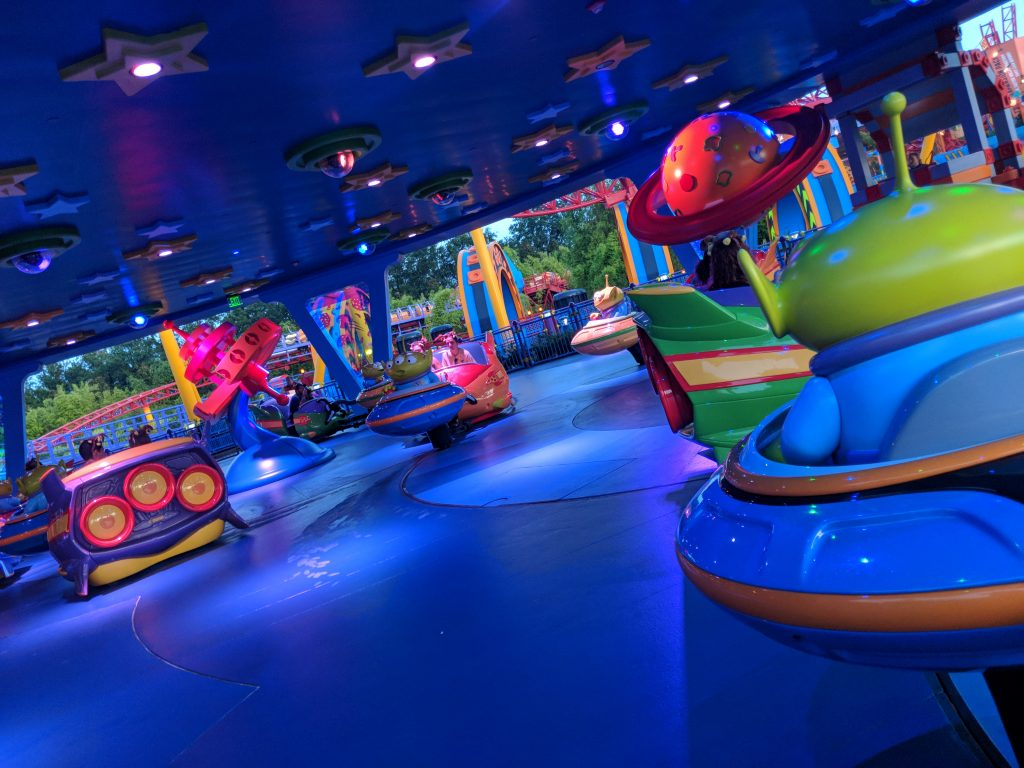 Kids of all ages love Alien Swirling Saucers.