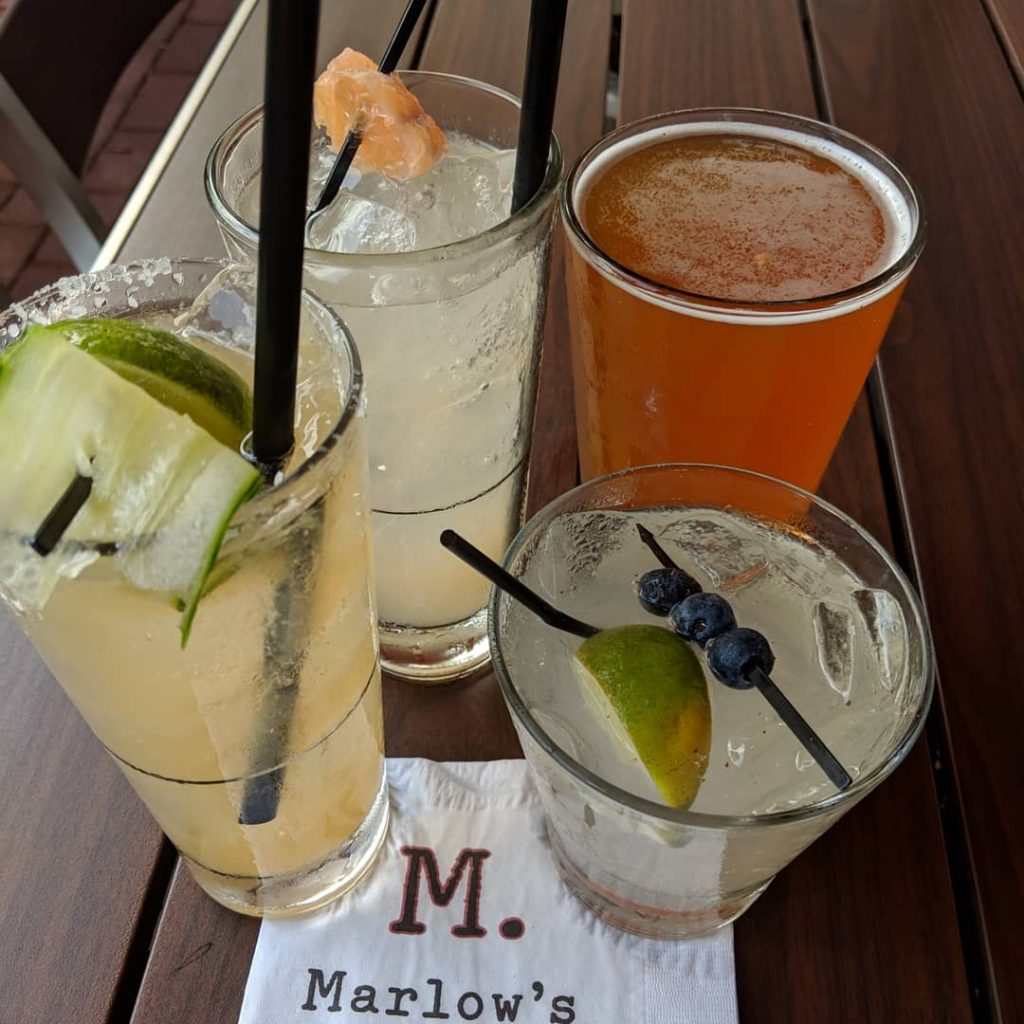 Refreshing summer cocktails available at Marlow's Tavern Orlando