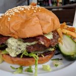 The Black and Blue Burger from Marlow's Tavern