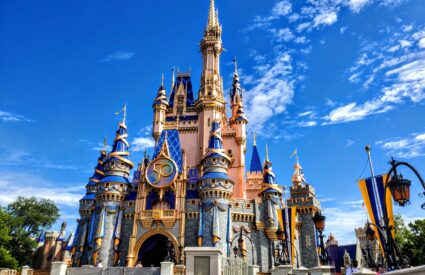 Cinderella Castle at Disney's Magic Kingdom where the planDisney panelists take their training trip!