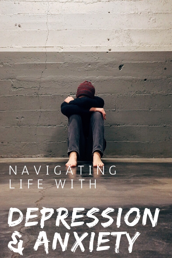 Do you suffer from depression and anxiety? As a mom I've always felt like I was failing. But I'm finally learning how to navigate life and motherhood with depression and anxiety.  #depression #anxiety #motherhood