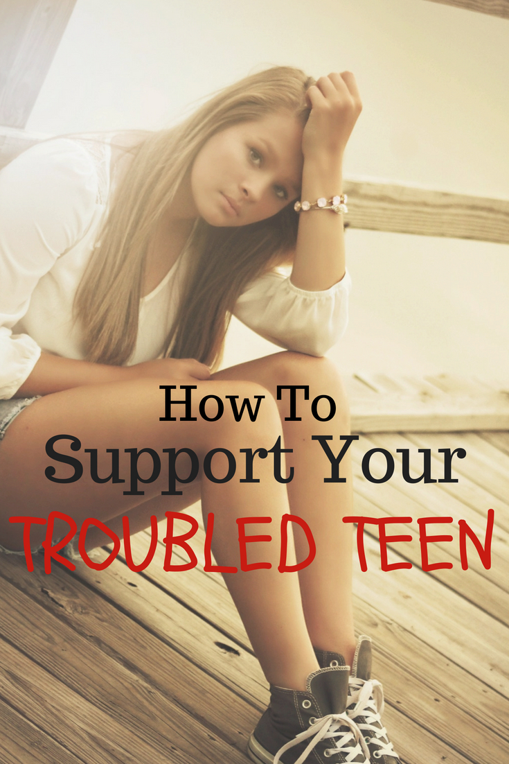 Teenage years are rough and it can be a struggle as parents to know how to help. Know you're not alone! I've got tips that will help you to support your troubled teen. #teen #depression #parentingteens #parenting