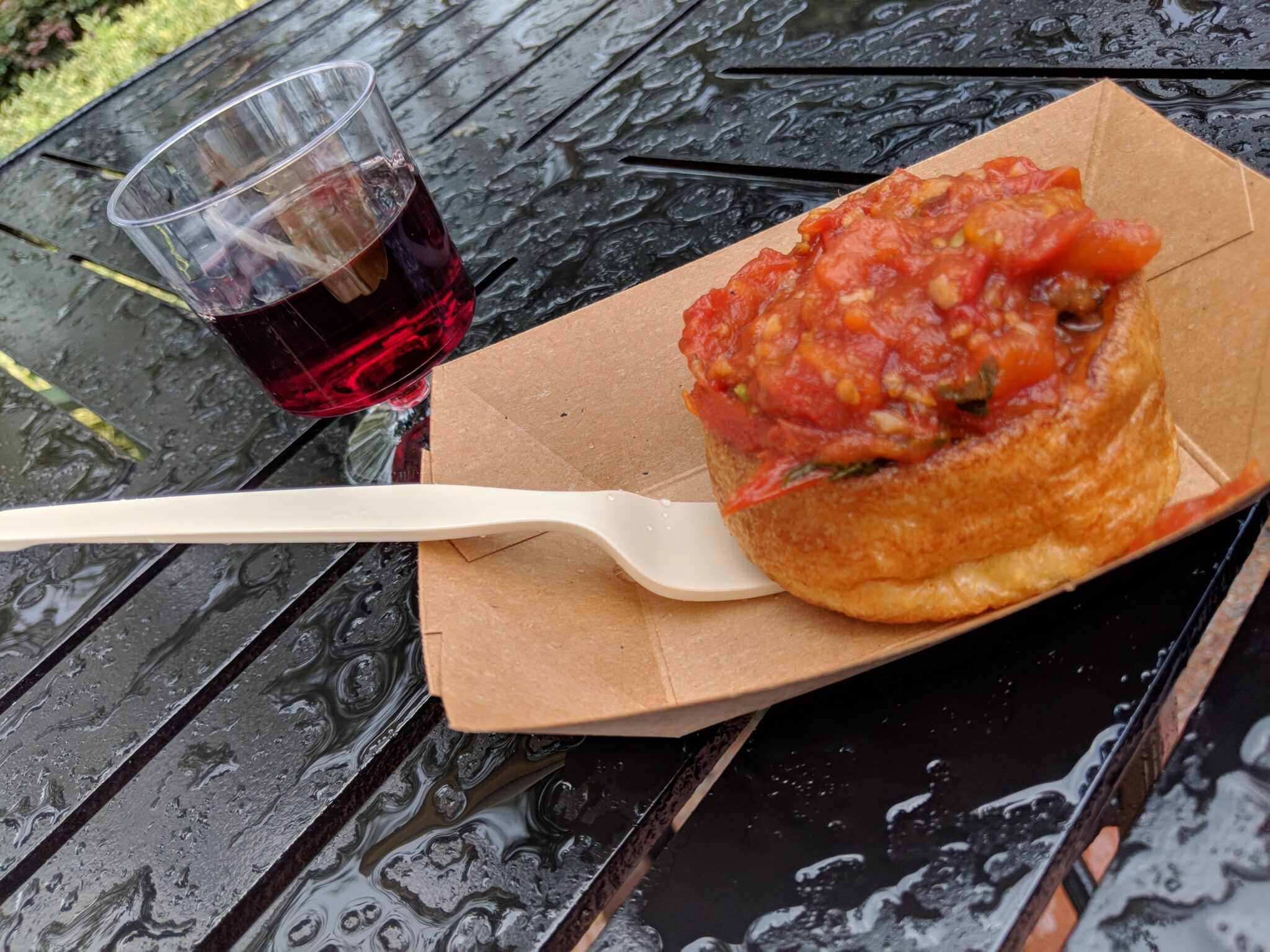 Try the New Zealand lamb meatball when visiting Epcot Food & Wine on a budget.