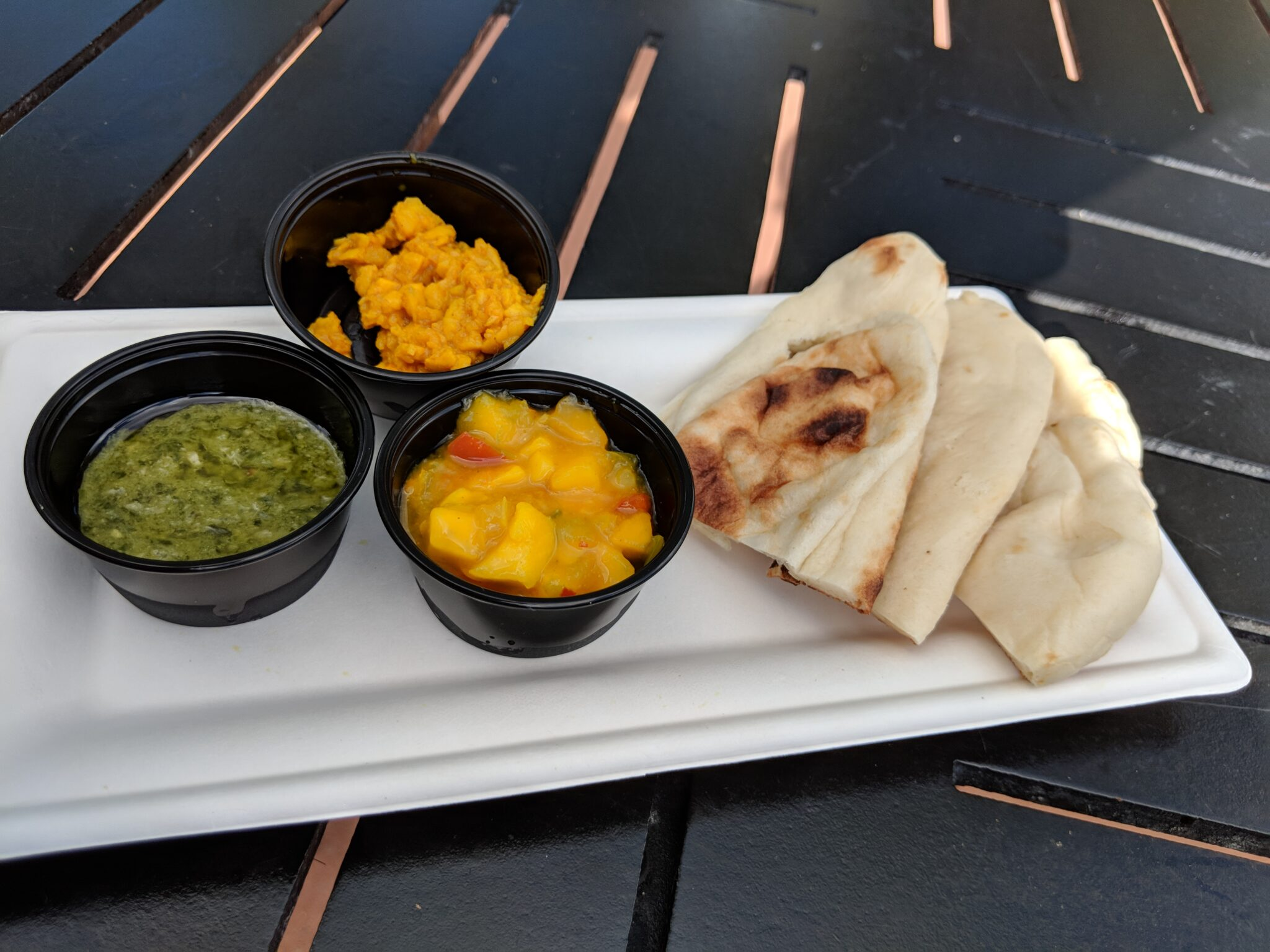 Get a sample of Sanaa bread service at Epcot Food & Wine.