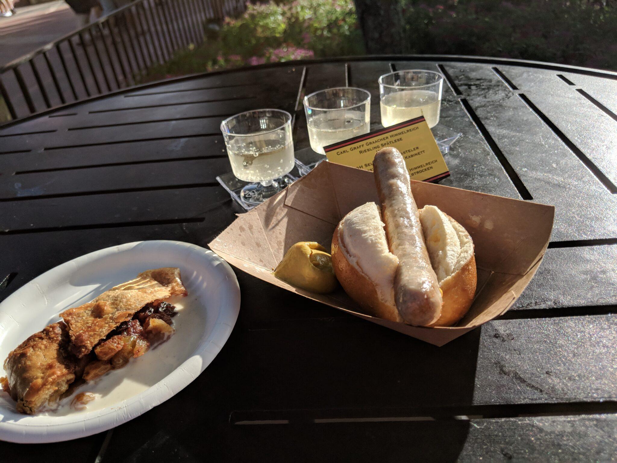 Roast Bratwurst from Epcot Food & Wine Festival.