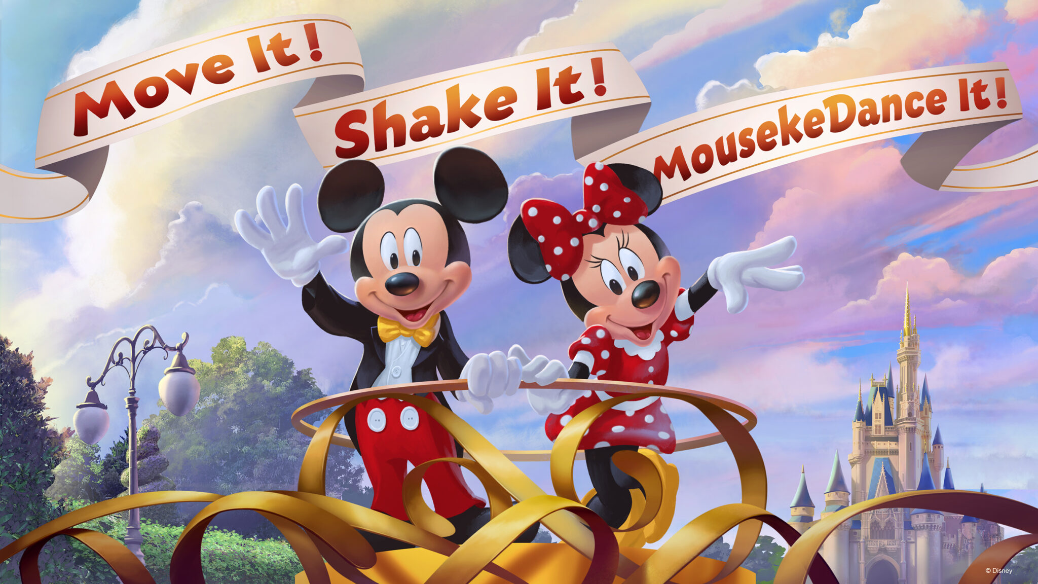 See the new Move It! Shake It! MousekeDance It! Street Party in 2019.