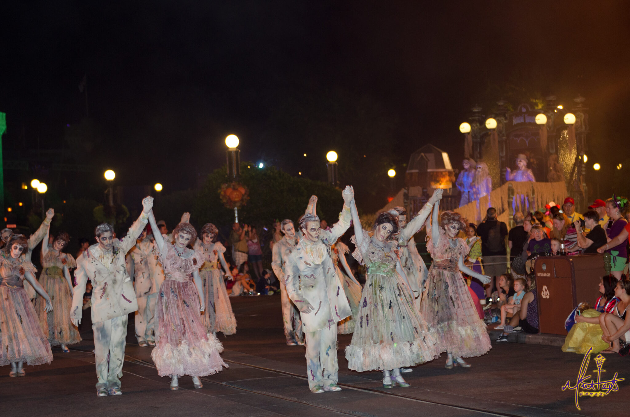 Ghostly haunts dancing at the Boo to You Parade.