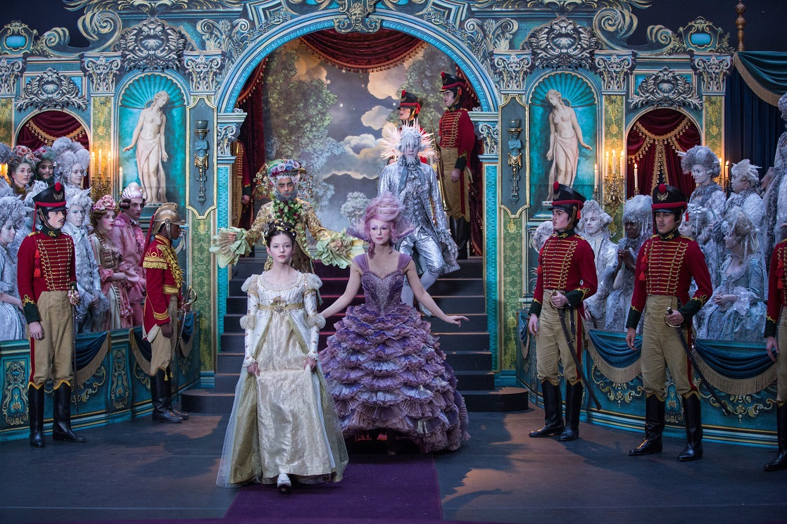 Clara with the three Regents in Disney's Nutcracker and the Four Realms