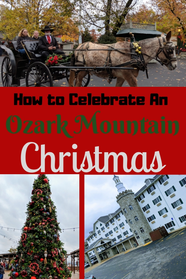 Christmas carols, decorated trees and bright lights hung from everything - Discover the true meaning of an Ozark Mountain Christmas! #BloggingBranson #Branson #midwest #Christmas