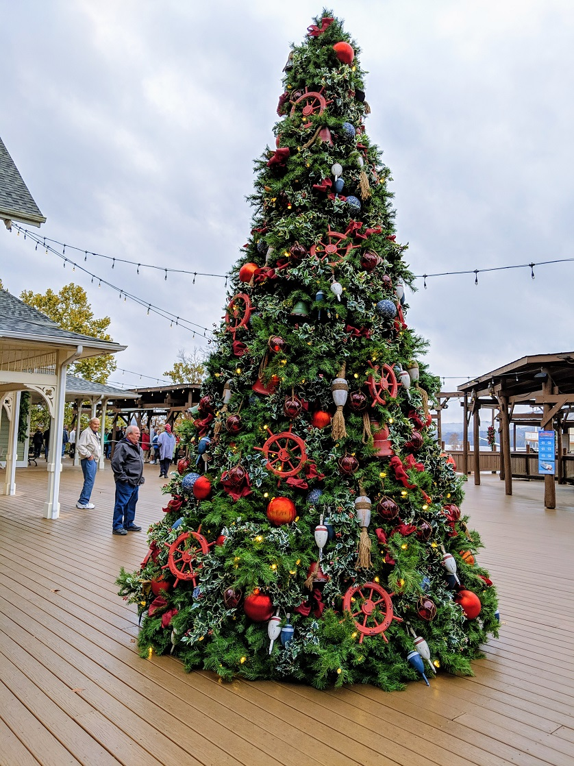 The nautical themed Christmas greets guests of the Showboat Branson Belle.