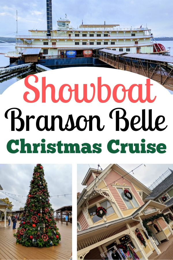 Dinner, musical performances and shopping - You'll find it all aboard the Showboat Branson Belle Christmas Cruise. #BloggingBranson #SilverDollarCity #showboatcruise #riverboat #familytravel #Branson
