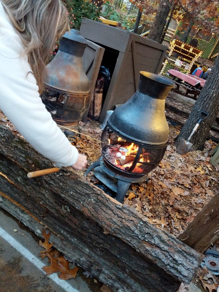 Try homemade s'mores at Silver Dollar City's An Old Time Christmas