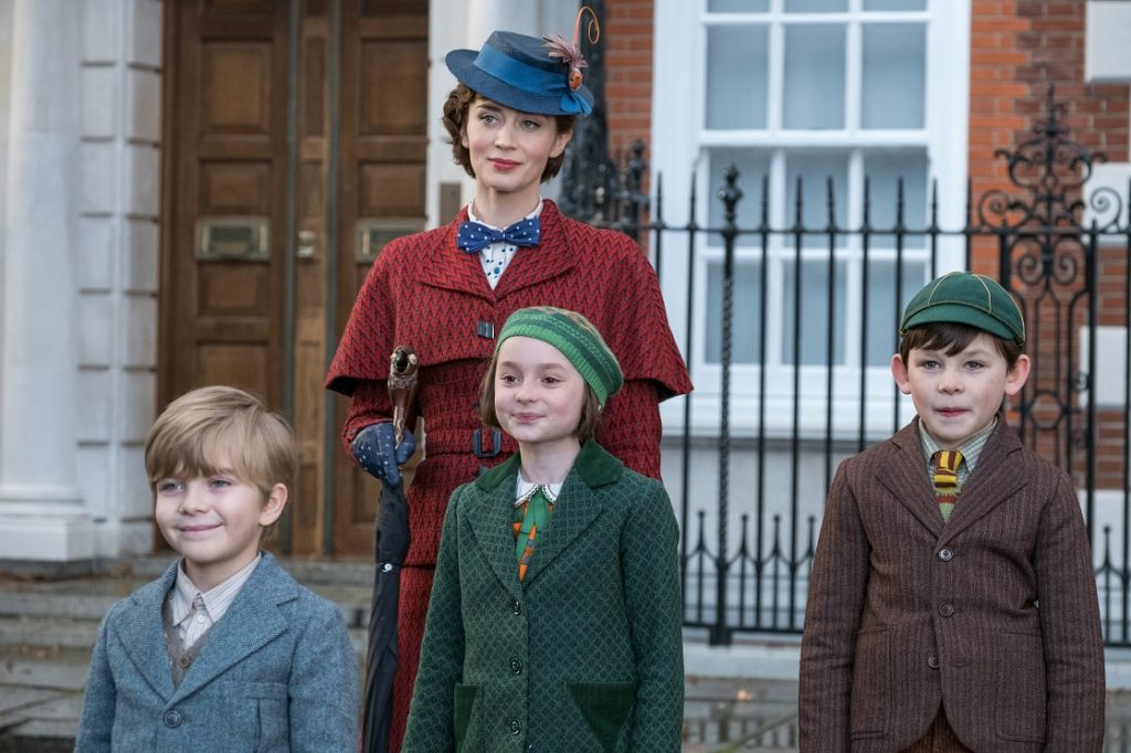 Returning to take care of the Banks children - Mary Poppins Returns appropriate for kids