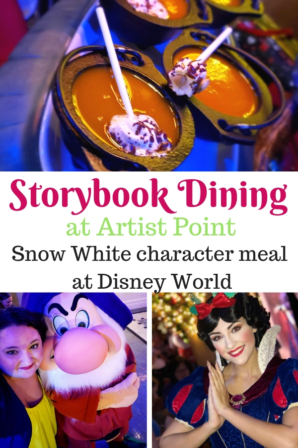 Storybook Dining at Artist Point with Snow White is the newest character meal at Disney World. What can you expect when dining there?Here's everything you need to know! #DisneyWorld #StorybookDining #charactermeals #familydining