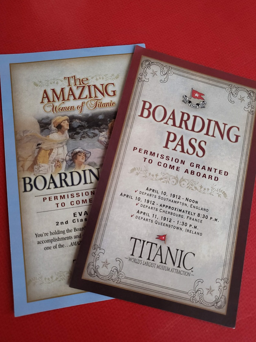 Branson family fun at the Titanic Museum starts with a boarding pass.