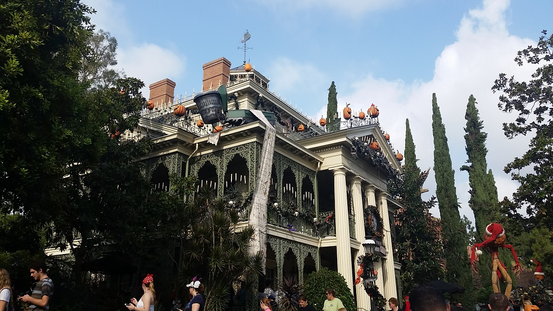 September is the best time of year to go to Disneyland if you want to ride Haunted Mansion Holiday.