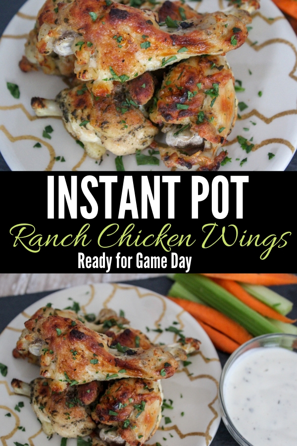Simple and easy, but so good! These Instant Pot ranch chicken wings will have your guests screaming for more. #InstantPotrecipe #InstantPotchicken #chickenwings #chickenrecipe