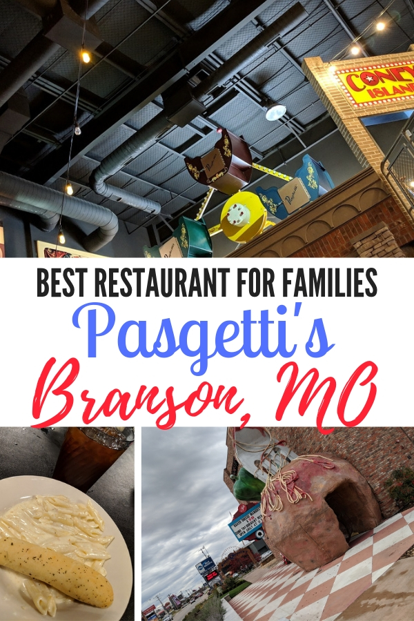 World's largest meatball and fork, indoor Ferris wheel and mouthwatering pasta can all be found at Pasgetti's in Branson, MO. #BloggingBranson #Pasgettis #familydining #familytravel