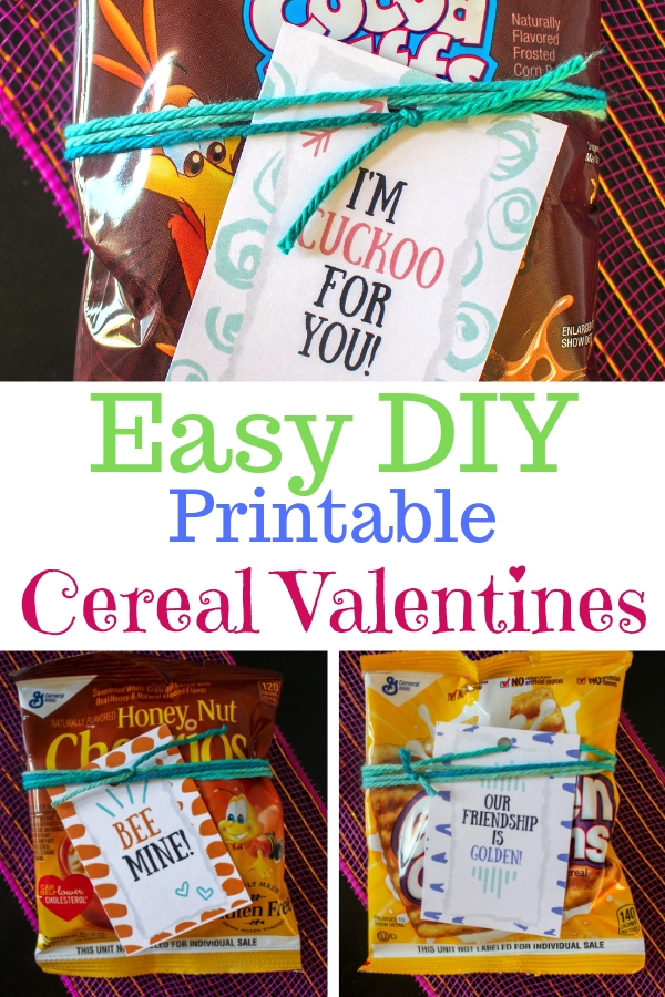 Be the star of the classroom with these easy printable cereal Valentines. #printablevalentines #valentinesday #kidsvalentines #cerealvalentines