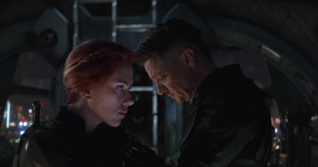Black Widow and Hawkeye come together in Avengers: Endgame.