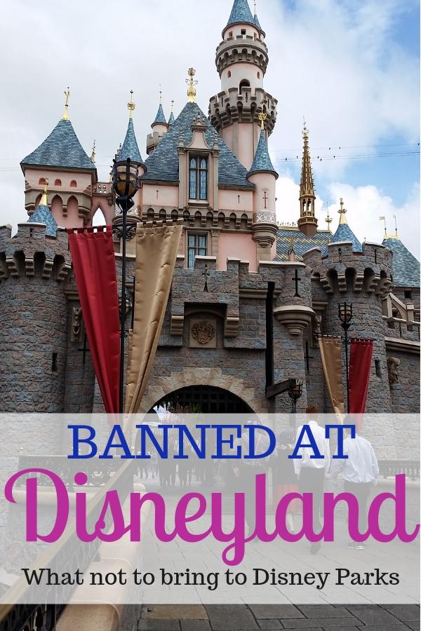 Learn what is banned at Disneyland starting May 2019. #Disneyland #DisneyParks #Disneytips