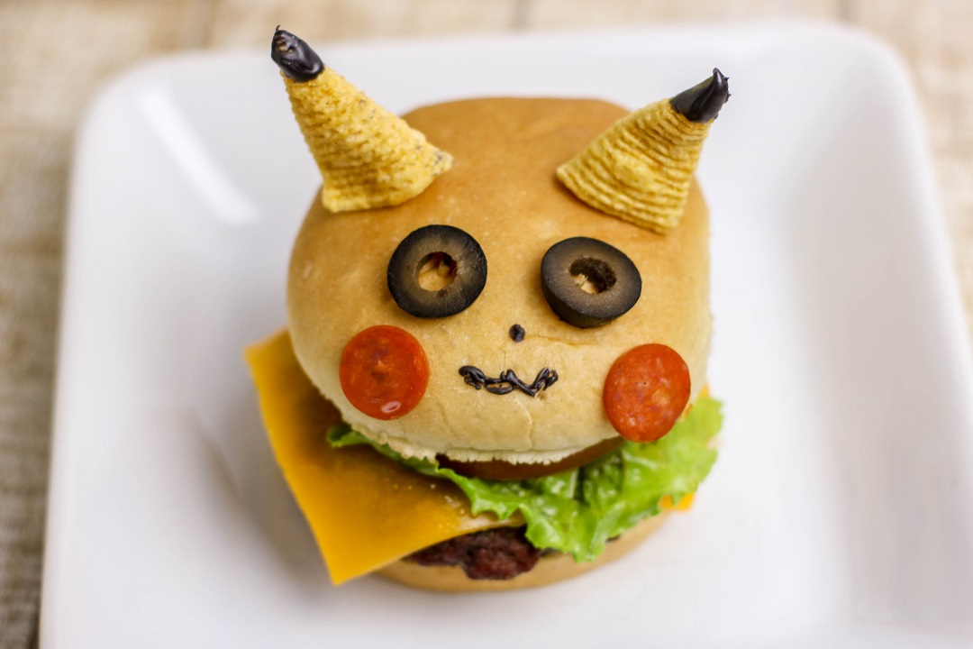 These Detective Pikachu burgers are perfect for birthday parties, family dinners or anytime you're craving a burger!