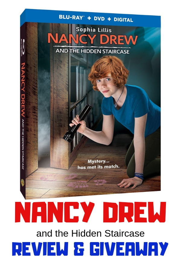 The iconic Nancy Drew comes to life in this family friendly adaption of the book Nancy Drew and the Hidden Staircase. Plus a chance to win your own copy on Blu-ray. Giveaway ends 4/9/2019