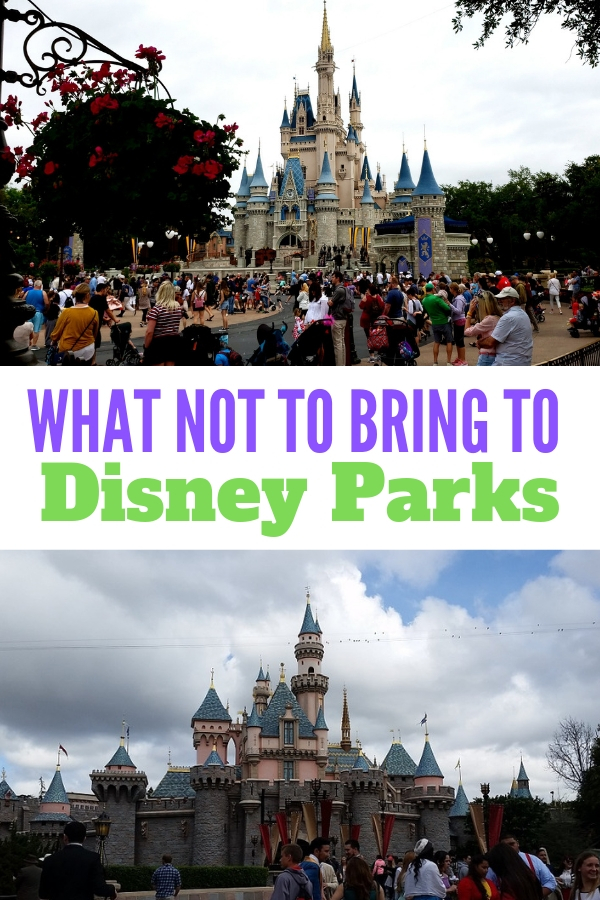 Don't make the mistake of bringing these banned items into Disney Parks! #DisneyTips #Disneyfamily #Disneykids