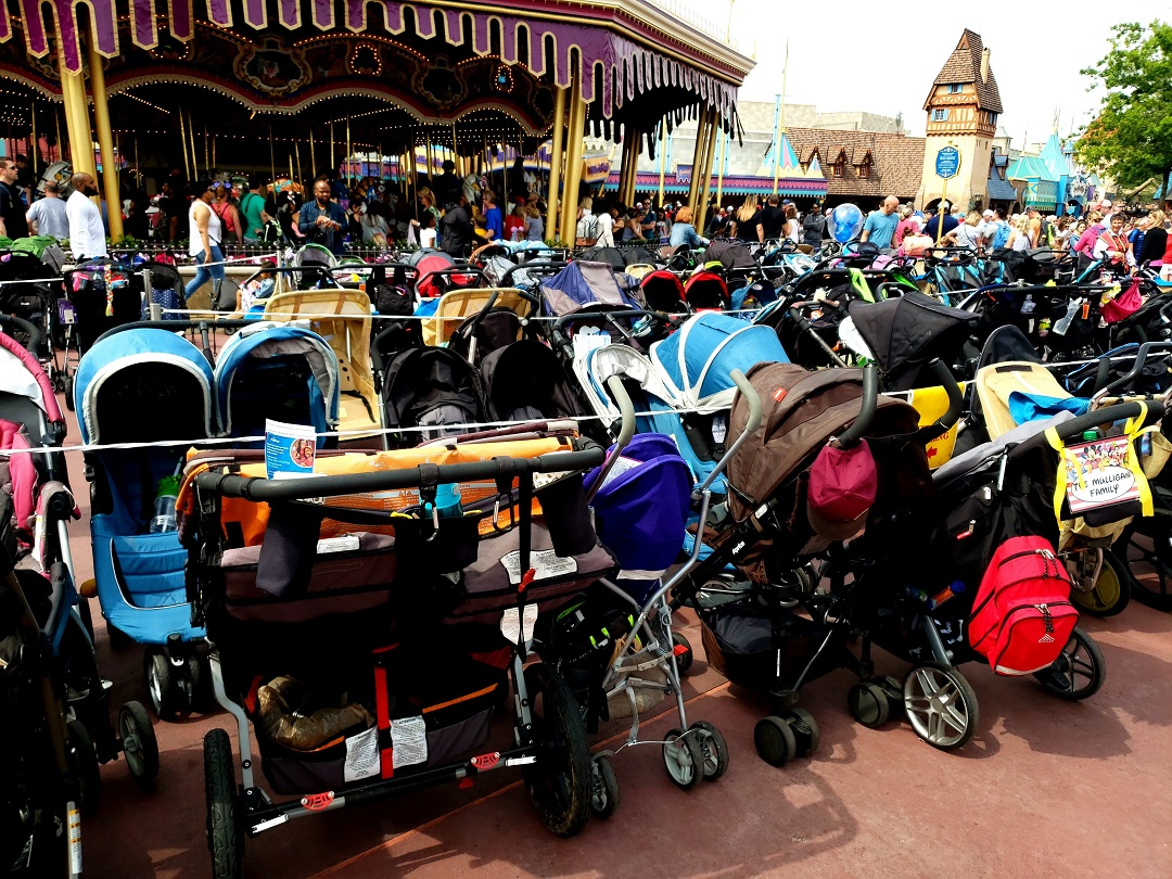 Large strollers are banned at Disney starting May 1, 2019.