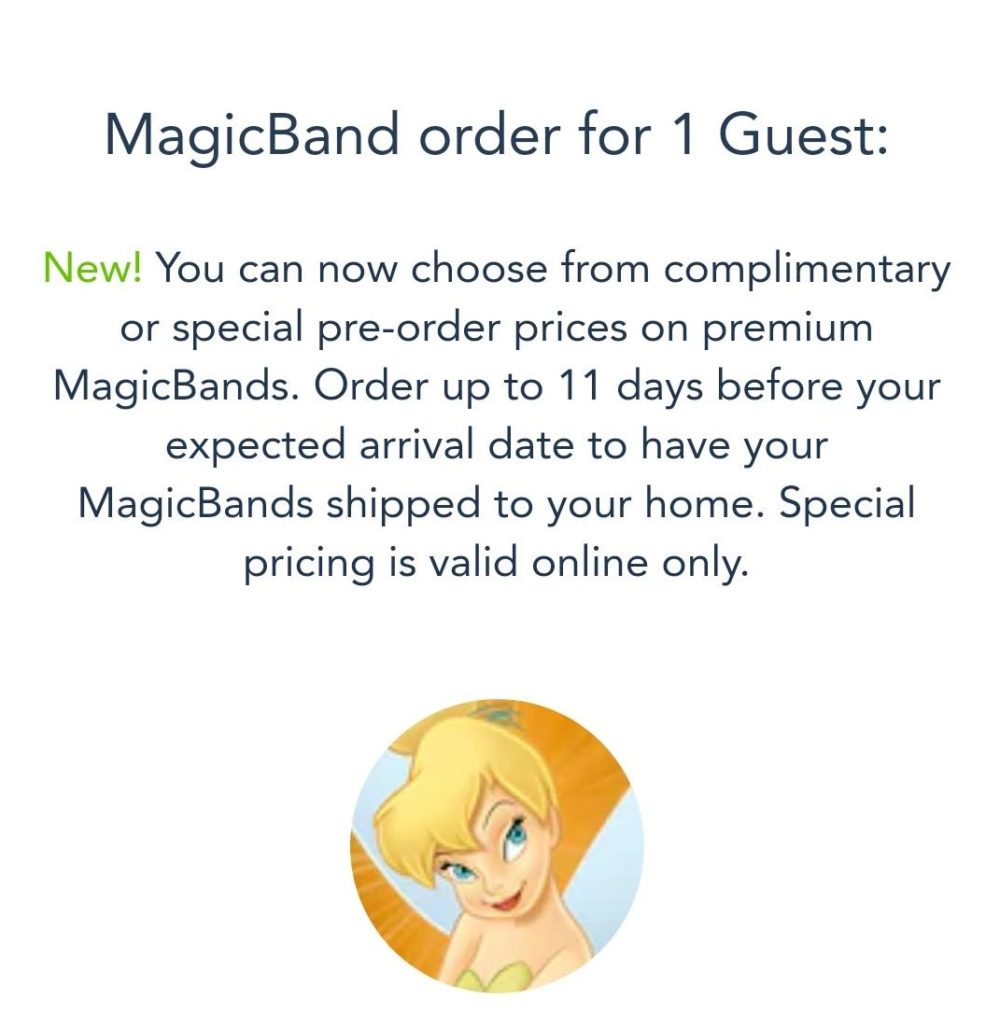 You are able to customize and choose your designer MagicBand on the My Disney Experience app.