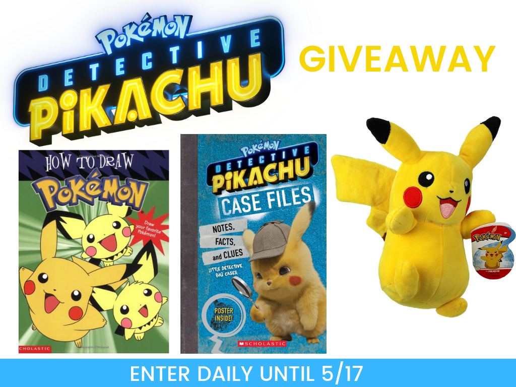 Enter for a chance to win this AWESOME Detective Pikachu prize pack!