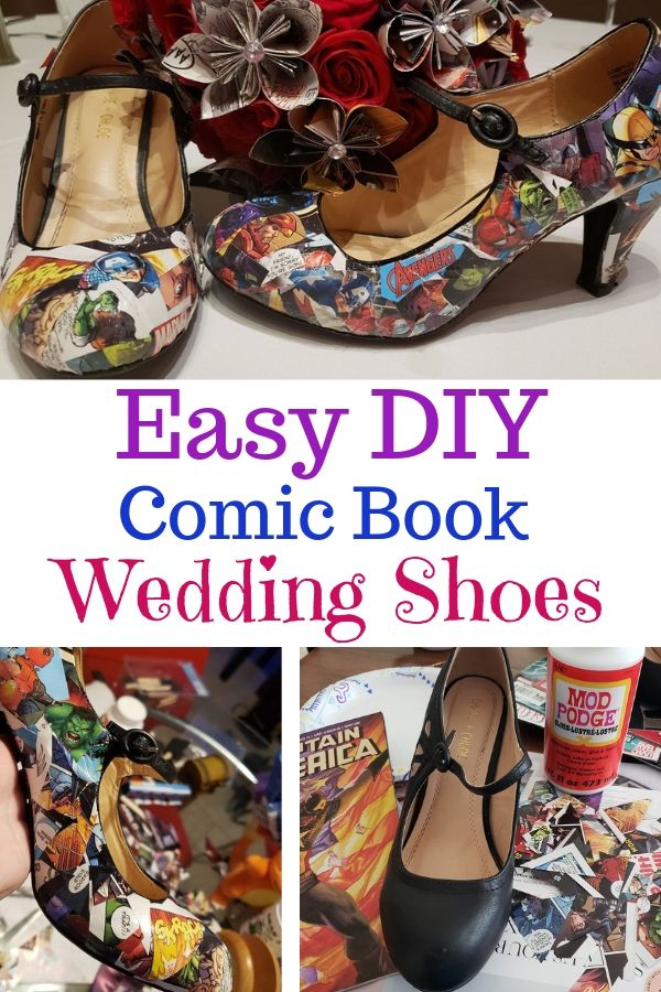 Quick and easy guide to creating your own comic book shoes.