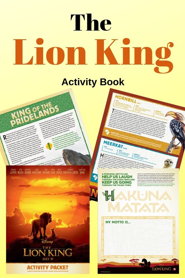 Educational Lion King activity sheets are so fun your kids won't know they are learning! #TheLionKing #Disneyprintables