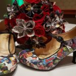 DIY comic book shoes are the perfect accessory for any marvel themed wedding.