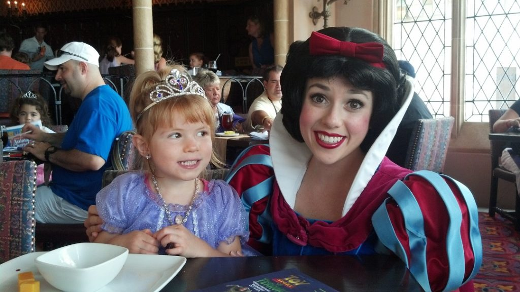 Cinderella's Royal table allowed us to meet the princesses without a meltdown and helped us manage Disney World with autism.