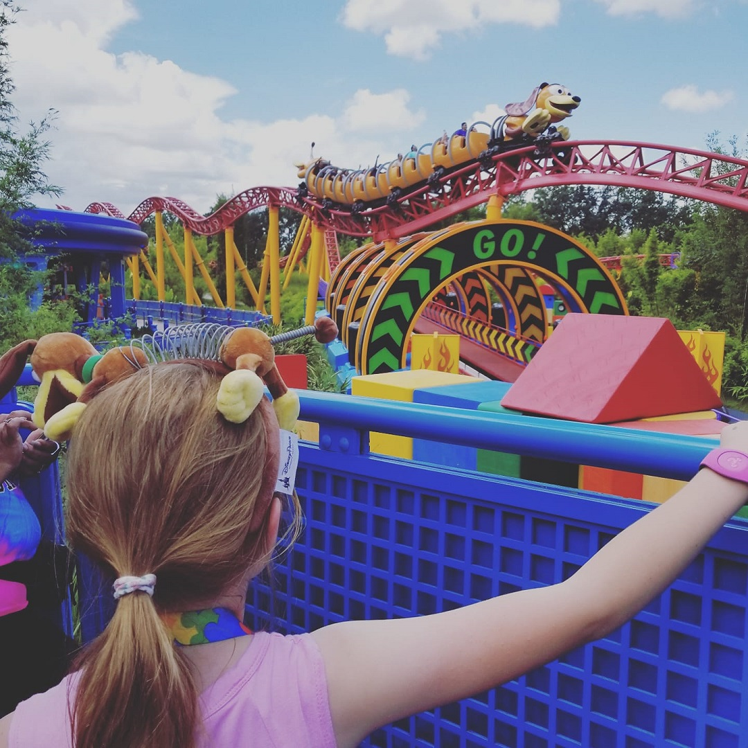 Being able to ride her favorite ride, Slinky Dog Dash, without having to stand in a long line was a lifesaver.